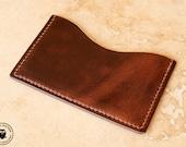 Leather Micro Card Wallet (Dark Brown Horween CXL)