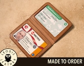 Leather ID or Travel Card Wallet