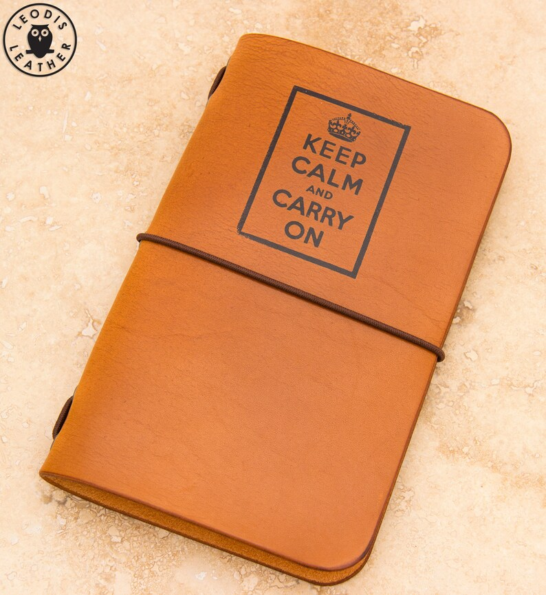 Leather Field Notes or Moleskine Cahier Notebook Cover Keep image 0