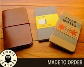 Leather Field Notes or Moleskine Cahier Notebook Cover, Made to Order