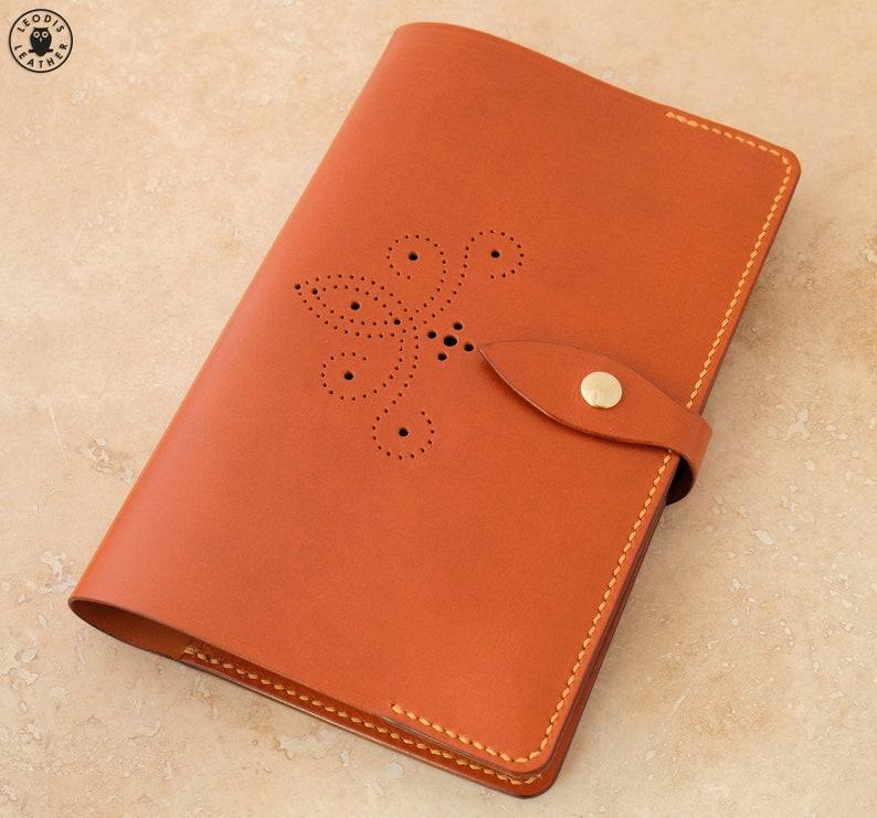 Leather Moleskine Cover Mid Tan Brogue image 0