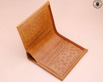 Gents Horsehide Leather Card Wallet (Natural)