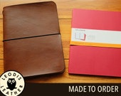 Leather Moleskine XL Cahier Notebook Cover, Made to Order