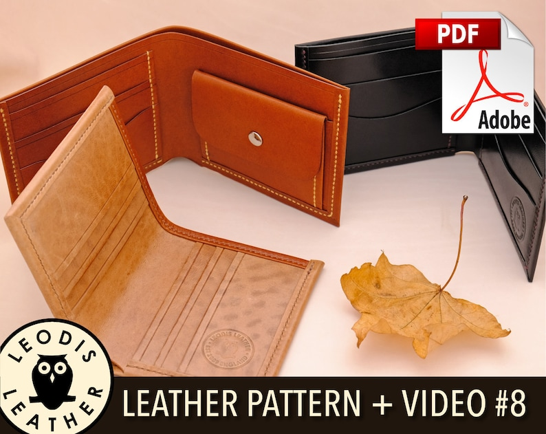 Build Along Leather Pattern 8: Enhanced Coin and Card Wallets image 0