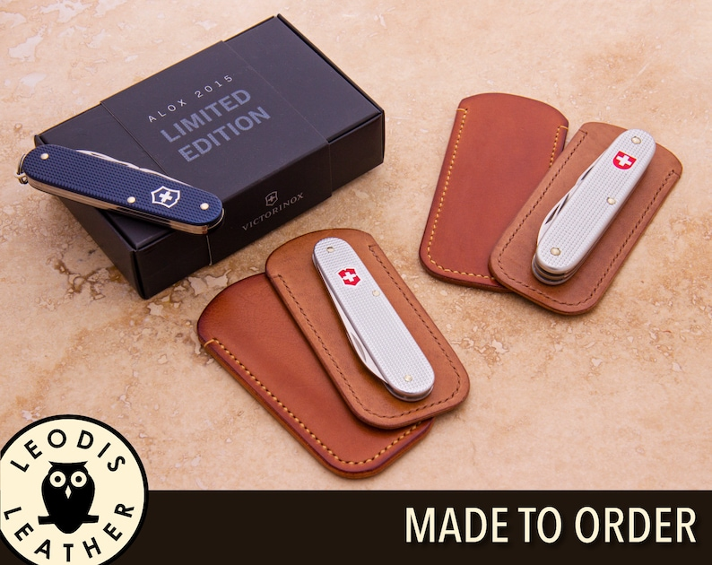 Swiss Army Knife Leather Slip Case ALOX image 0