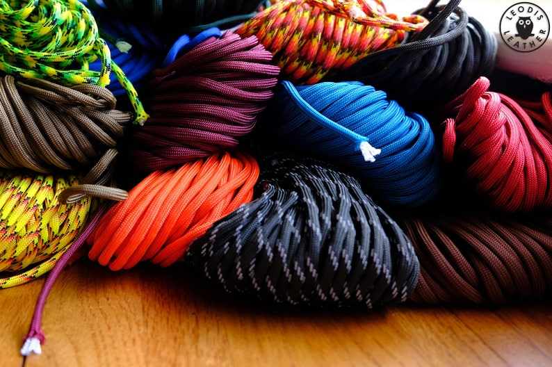 550 Paracord Parachute Cord  19 Colours  USA Made image 0