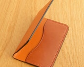 Leather Card Wallet (Mid Tan/Chestnut)