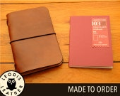 Leather Midori Passport Traveller's Notebook Cover, Made to Order