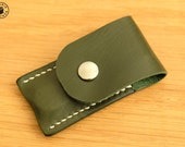 Victorinox Classic Swiss Army Knife and Leather Pouch Set (British Racing Green/Ecru)