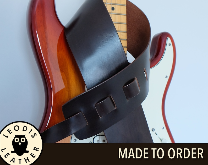 Leather Guitar Strap image 0