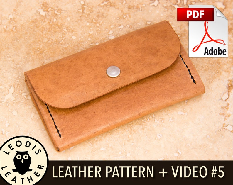 Build Along Leather Pattern 5: Compact Purse/Wallet image 0