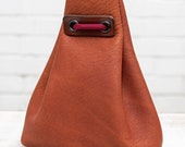 Small Leather Pouch (Light Brown Calfskin)