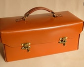 """Leather Toolbox or Tote (14"""" newton)"""