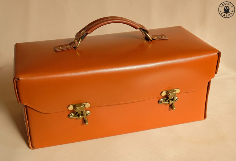 Leather Toolbox or Tote 14 newton image 0