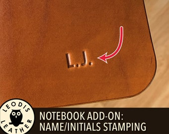 Notebook add on: name/initials stamping