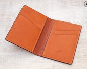 Leather Card Wallet (Whisky/Tan Kangaroo)
