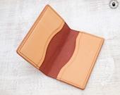 Leather Card Wallet (Chestnut Bridle/Natural)