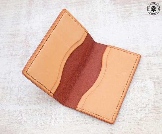 Leather Card Wallet Chestnut BridleNatural