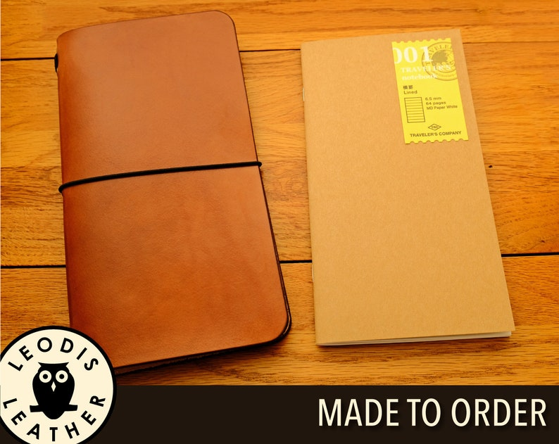 Leather Midori Traveller's Notebook Cover Made to Order image 0