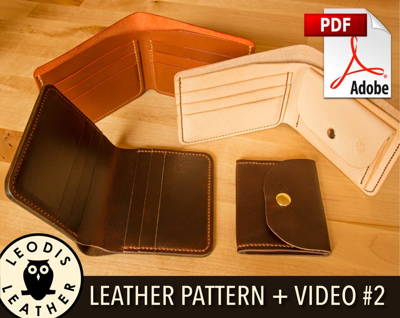 Build Along Leather Pattern 2: Coin and Card Wallets image 0