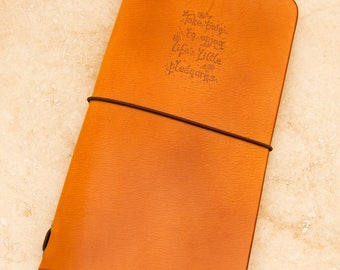 Leather Midori Traveller's Notebook Cover (Life's Little Pleasures)