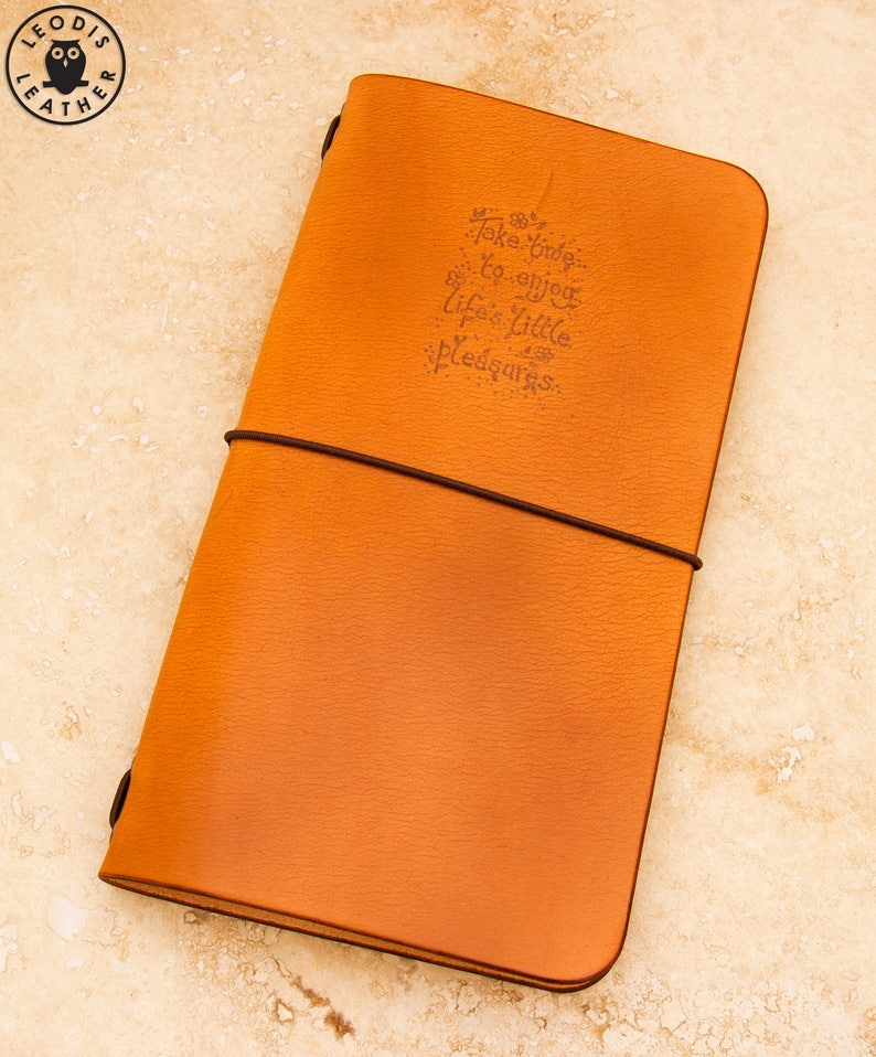 Leather Midori Traveller's Notebook Cover Life's image 0