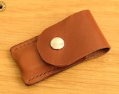 Victorinox Classic Swiss Army Knife and Leather Pouch Set (Chestnut/Mid Brown)