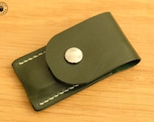 Victorinox Classic Swiss Army Knife and Leather Pouch Set (British Racing Green/Cream)