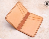 Leather Card Wallet (Spanish Brown/Natural Cowhide)