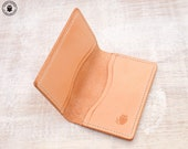 Leather Card Wallet (Natural Cowhide)