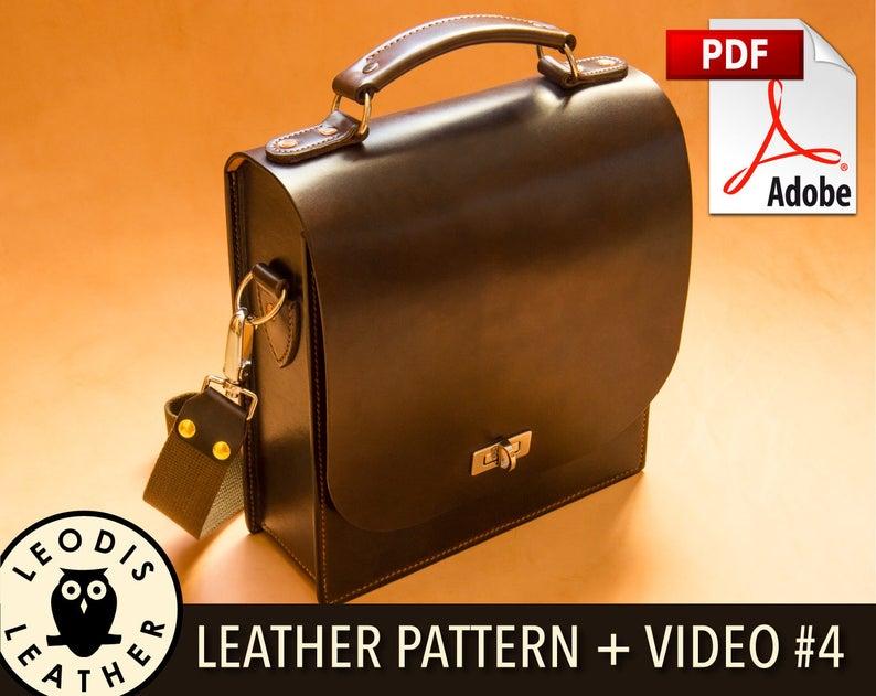Build Along Leather Pattern 4: Messenger Bag image 0