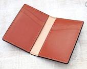 Leather Card Wallet (Chestnut Buffalo Calf/Russet)