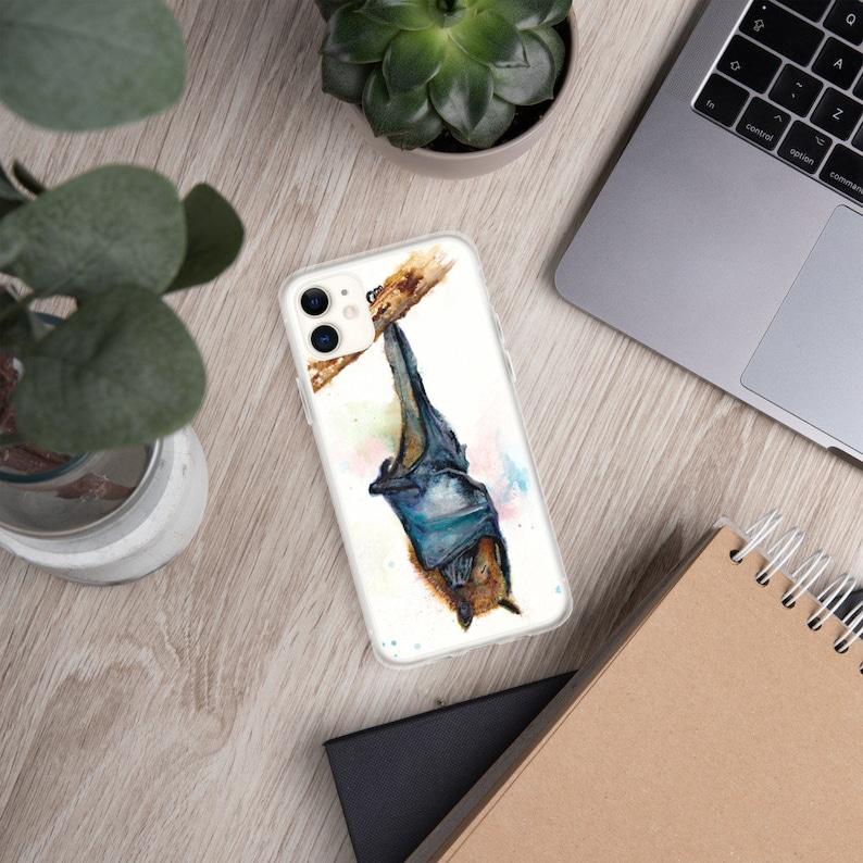 Bat watercolor art iPhone Case