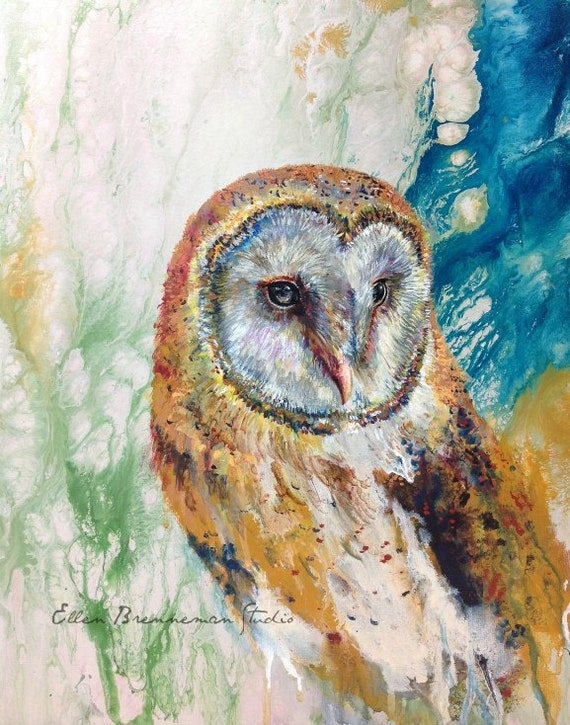 Barn Owl original painting by Ellen Brenneman