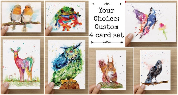 Your choice custom stationary note card set by Ellen Brenneman