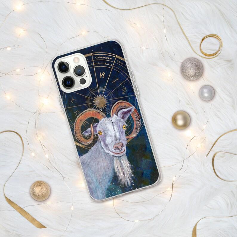 Capricorn Zodiac art iPhone case