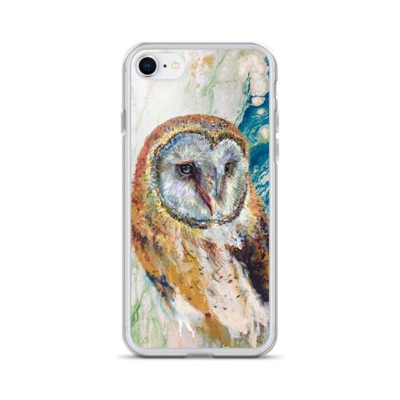 Barn owl iPhone case by Ellen Brenneman