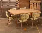 CLEARANCE SALE - Vintage Floral Dining Set  - etsy blog featured -