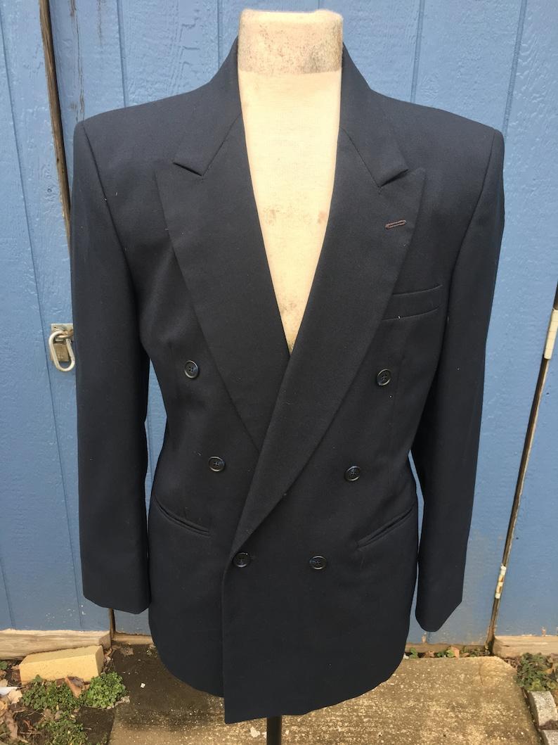 Mod Suit Navy Blue Double Breast 2 Piece Suit