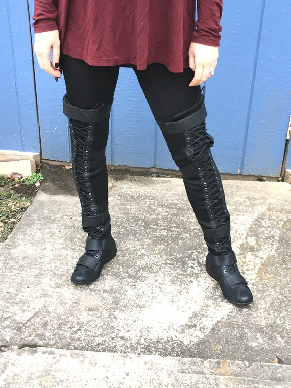 new varieties vivid and great in style new collection Tall Cyberpunk/ Sci Fi Moto Boots; Thigh Boots