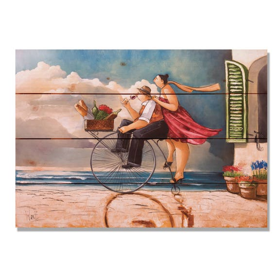 Bicycle Kitchen: Built For Two Colorful Bicycle Kitchen Art Wine Art Wood