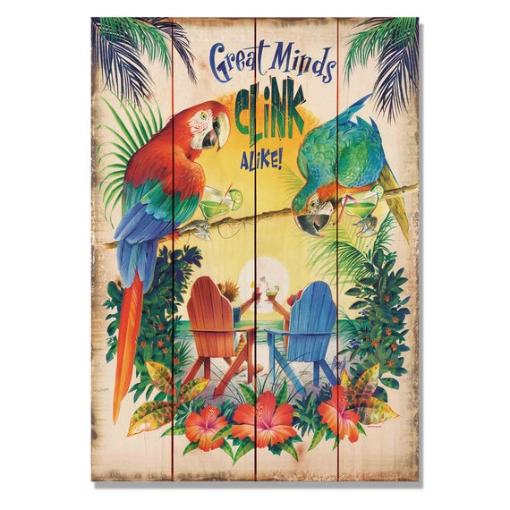 Great Minds Clink Alike Jim Mazzotta Margarita Wall Art   Etsy