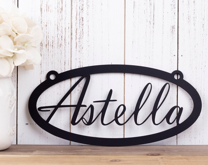Custom Name Metal Sign | Metal Wall Art | Wall Hanging | Custom Sign | Personalized Gift | Name Sign |  Custom Metal Sign | Personalized