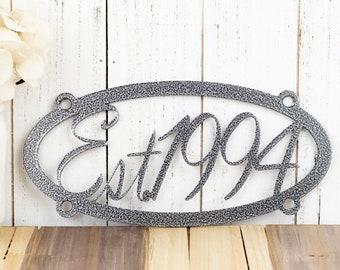 Established Wall Hanging | Wedding Gift | Metal Wall Art | Wall Decor | Established | Established Family | Family Established