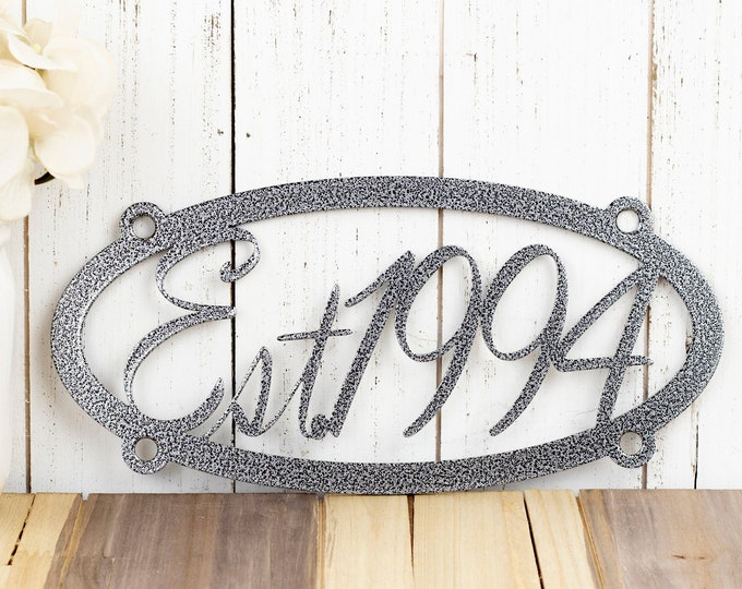 Established Wall Hanging | Wedding Gift | Metal Wall Art | Wall Decor | Established | Established Family | Family Established
