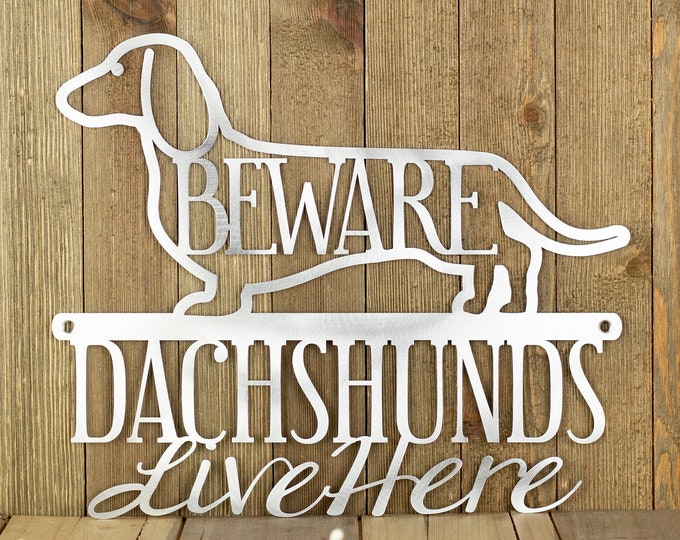Dachshund Sign, Doxie Metal Wall Art, Wiener Dog, Dachshund Lover Gift, Outdoor Dog Plaque