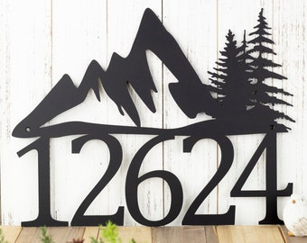 "House Numbers | House Number Plaque | Address Plaque | Address Sign | Custom Metal Sign | House Number | Metal House Numbers | 17""x13"""