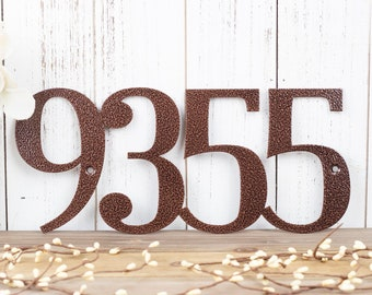 Metal House Number Sign | Custom Metal Sign | House Numbers | Address Numbers | Outdoor Address | Custom Address | 4 Digit