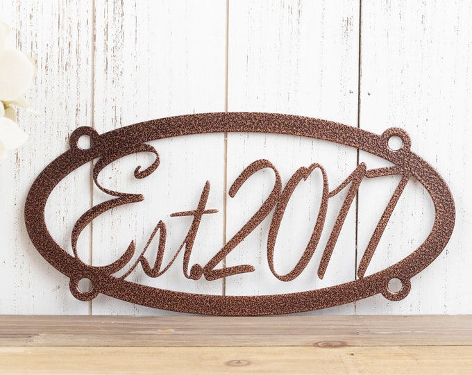 Established Metal Sign | Family Established | Custom Metal Sign | Custom Sign | Personalized Sign | Outdoor Sign | Metal