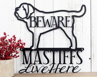 English Mastiff Metal Sign | Mastiff | Metal Wall Art | Mastiff Sign | Metal Wall Decor | Outdoor Sign | Wall Hanging | Dog